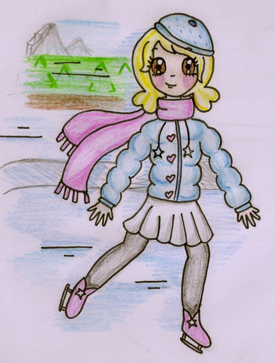 Snowy Skater by Maddie-Pie