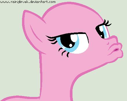 Duck Face Pinkie Pie Base by RainyBrush