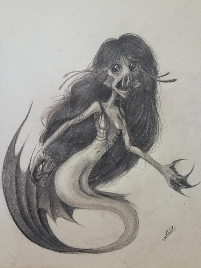 A Beautiful Mermaid. by 126MorbidPoetry