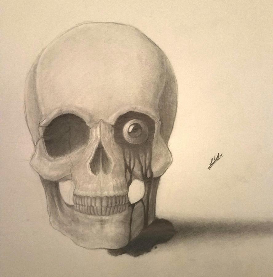 Skull with a bleeding eye by 126MorbidPoetry