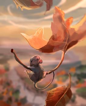 autumn skydiver