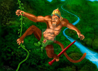 Hanuman by Johan01