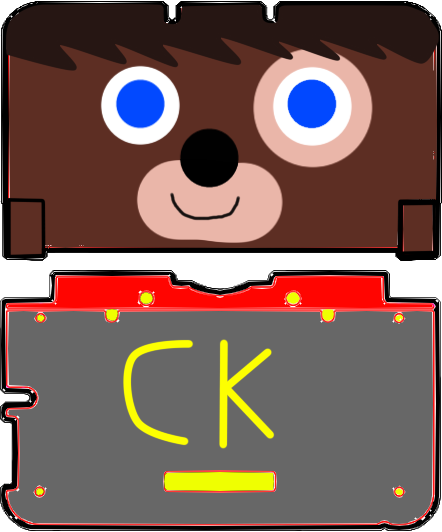 nintendo 3ds xl skin template chuck the dog by ponces245 on deviantart