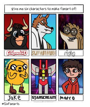 six characters fanart