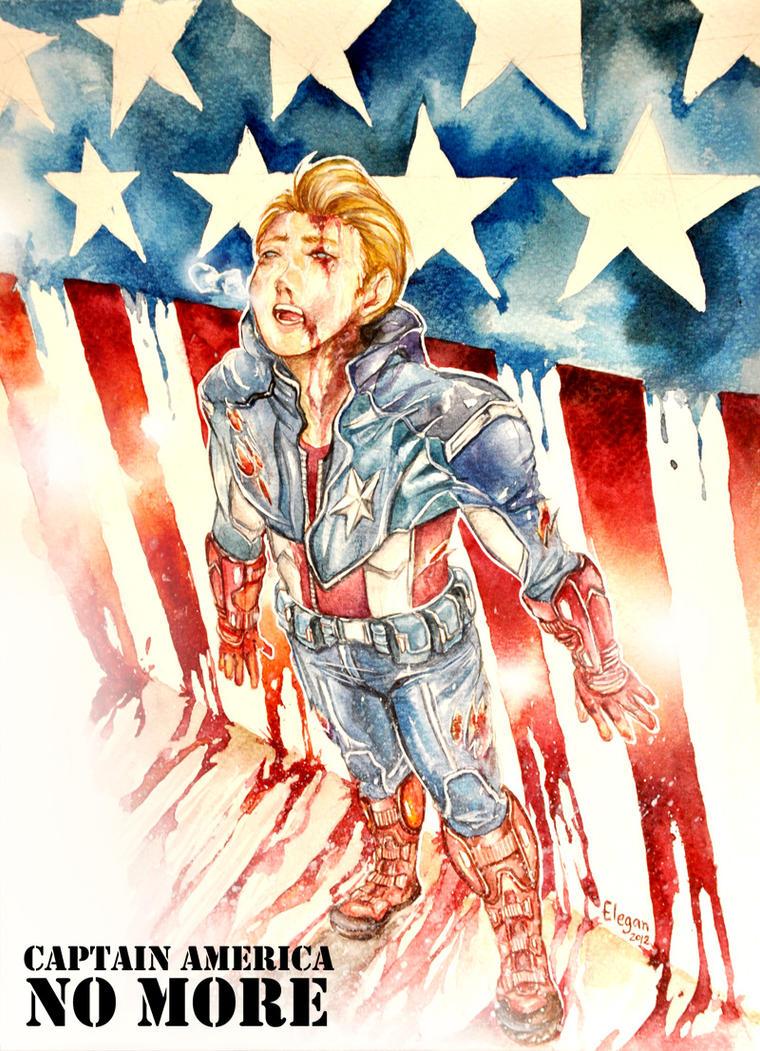 Captain America no more by Elegan