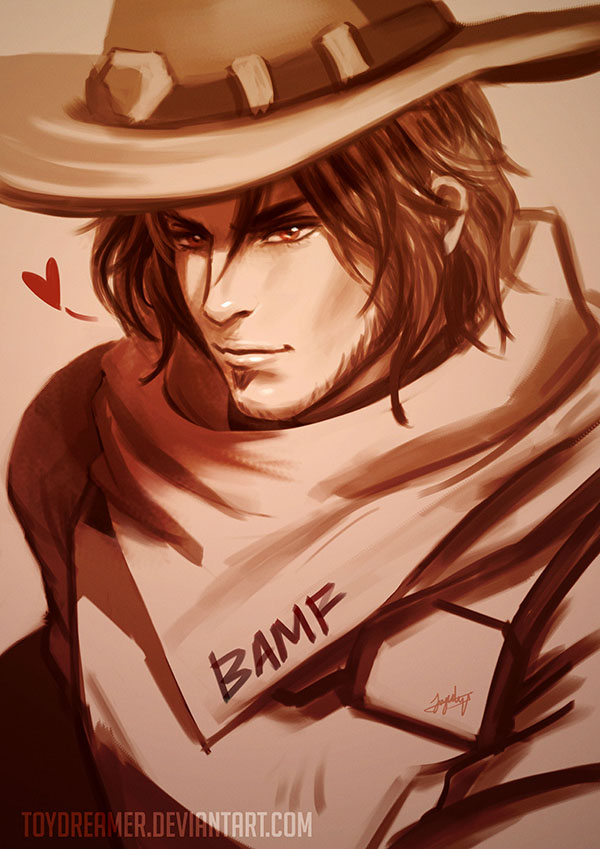 Mccree Selca by TOYDREAMER