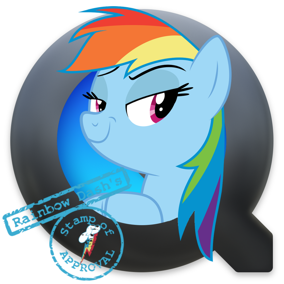 QuickTime Rainbow Dash Yosemite Ponified Icon by Falcotte on ...