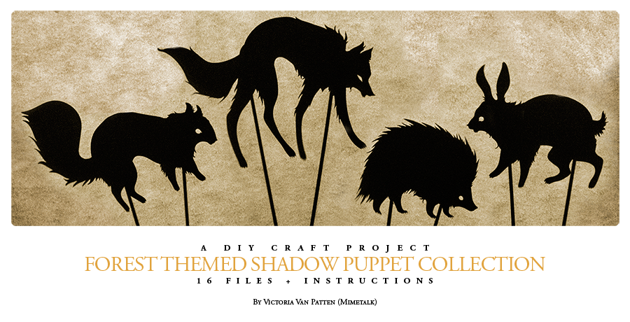Forest themed shadow puppet collection by mimetalk on for Free shadow puppet templates