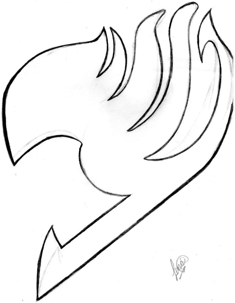 D Line Drawings Logo : Fairy tail logo no terminado by jokerlina on deviantart