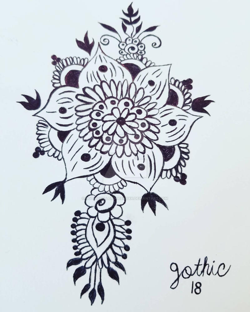 Henna Mandala Tattoo Design By Gothickillerqueenxxx On Deviantart