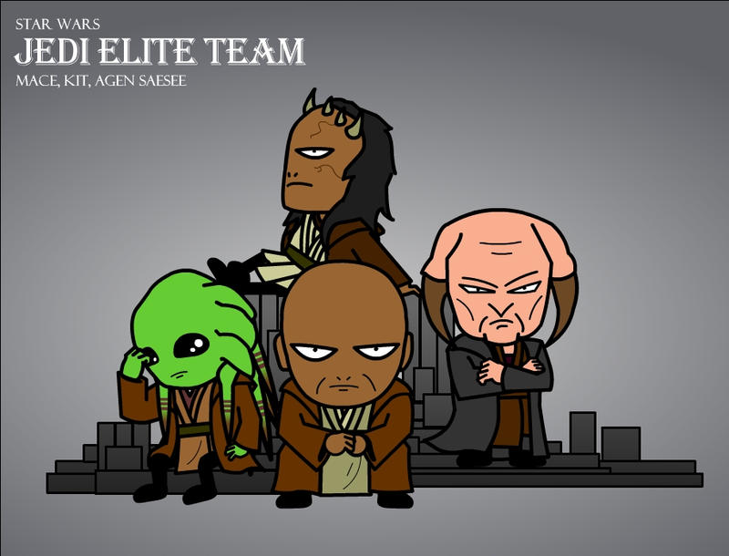 SW Gallery: Jedi Elite Team by Xennethy