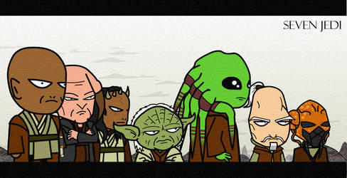 Seven Jedi: Colored by Xennethy