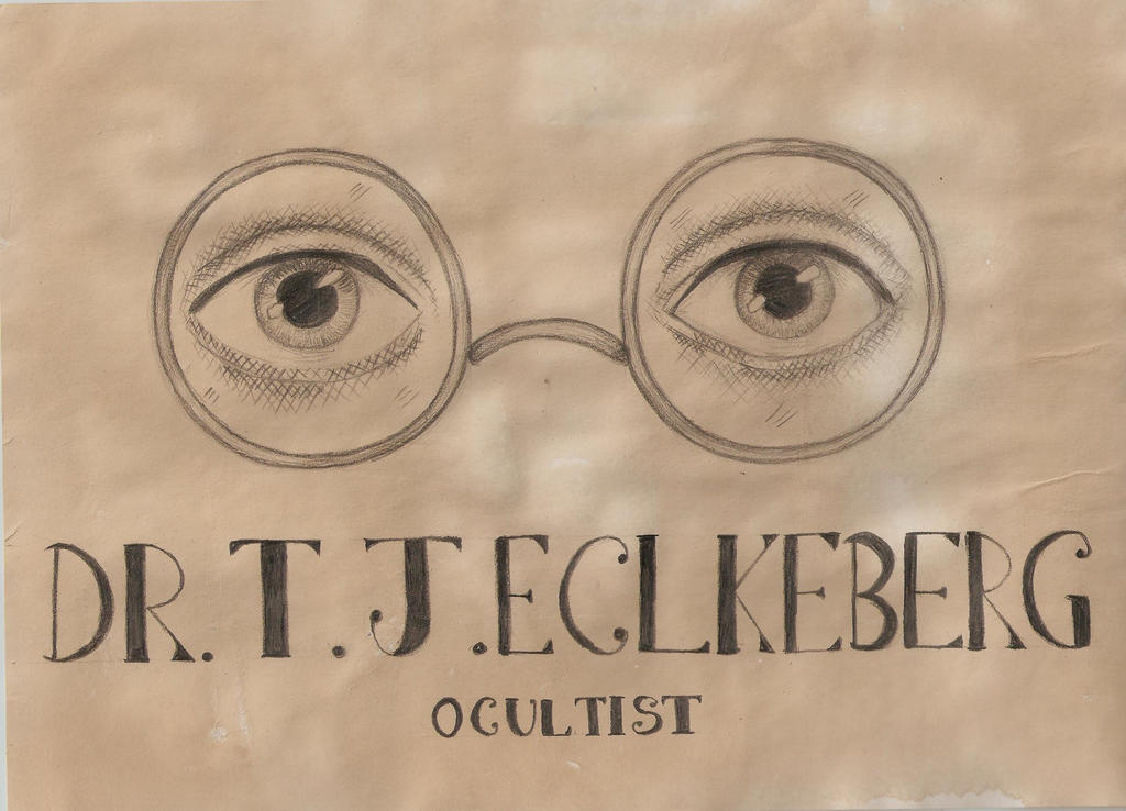 What is the meaning of the eyes of Dr. T. J. Eckleburg in The Great Gatsby?