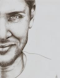 Jensen Ackles minimalist sketch by Miss-Lizzie-Jane