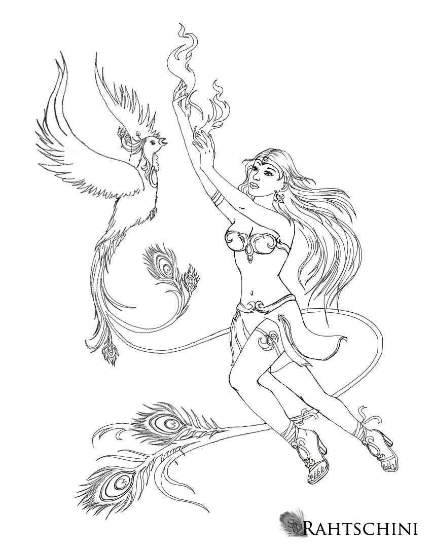 Phoenixlady with Phoenix