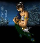Guild Wars - Ritu with peacock