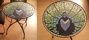 mosaic peacock table