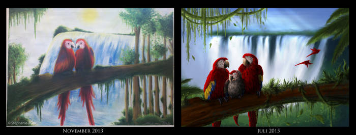 parrots - befor 2013 and after 2015