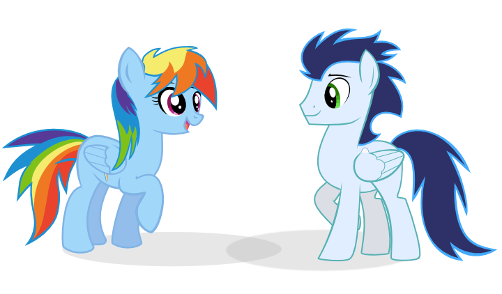 Rainbow Dash and Soarin by selecteddash on DeviantArt
