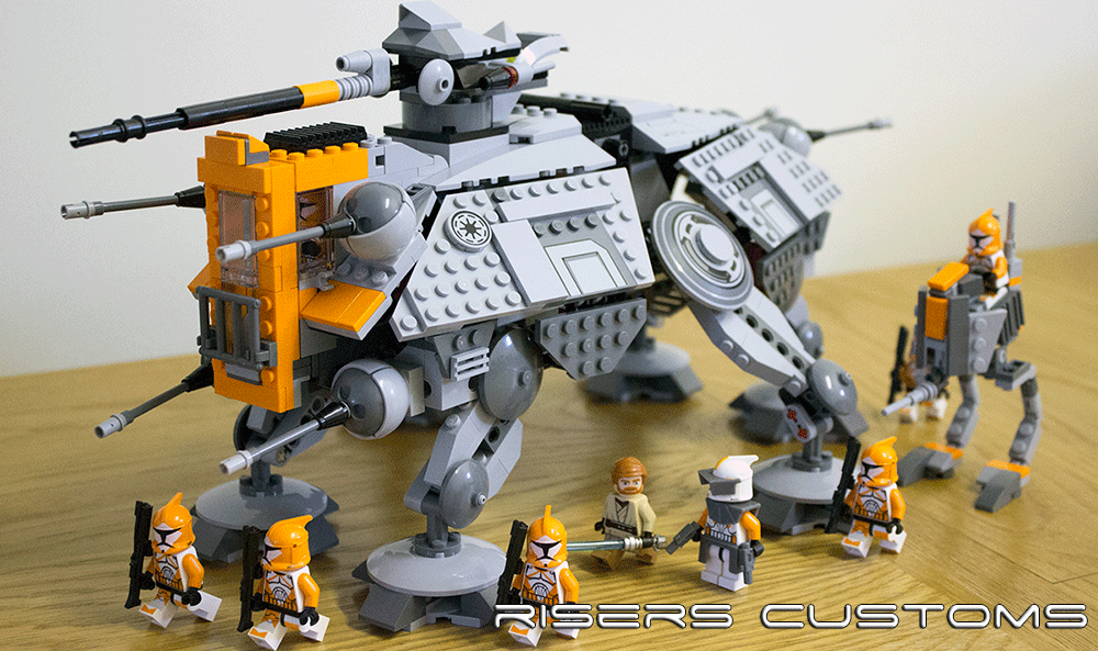 Lego Star Wars Custom Republic 212th At Te At Rt By Riser38 On
