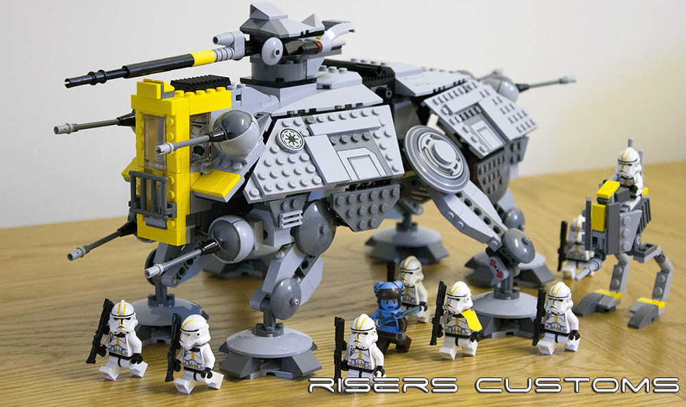 Lego Star Wars Custom Republic 327th At Te At Rt By Riser38 On