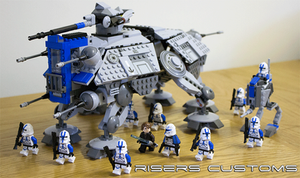 Lego Star Wars Custom Republic 501st AT-TE / AT-RT