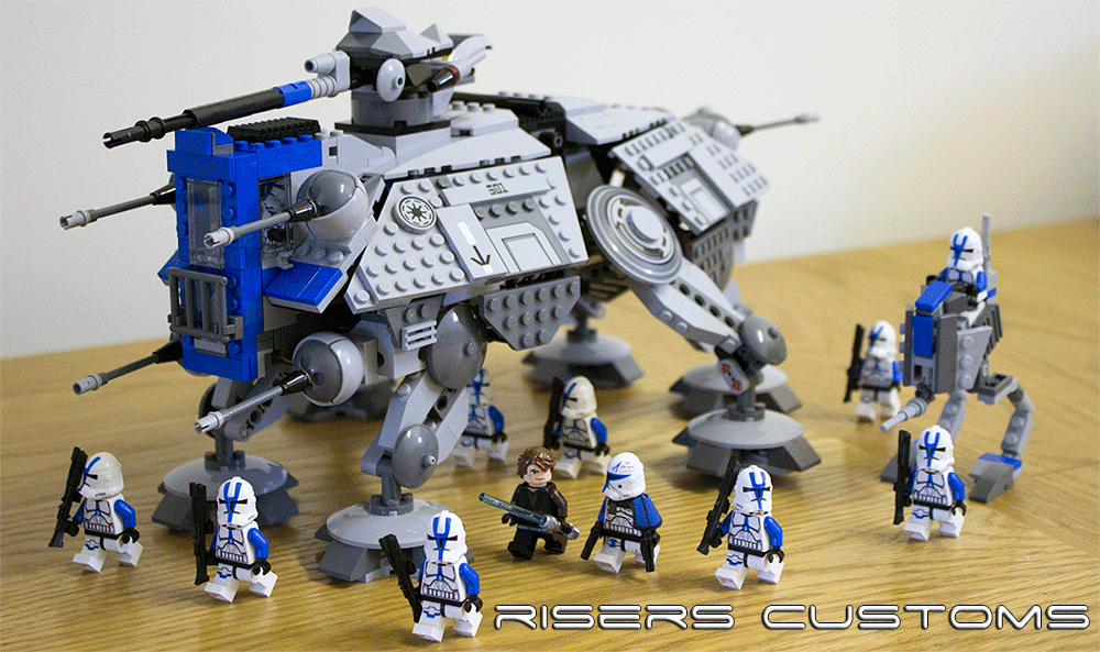 Lego Star Wars Custom Republic 501st At Te At Rt By Riser38 On