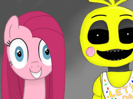 Pinkamena and Toy Chica by Infogirl101