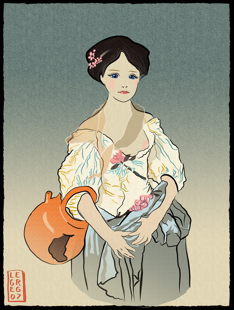 The broken Jug - ukiyo-e by legreg-art