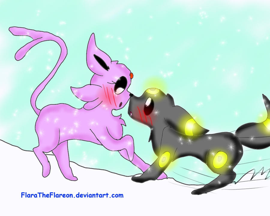 Pokemon Umbreon And Espeon Kiss - Hot Girls Wallpaper
