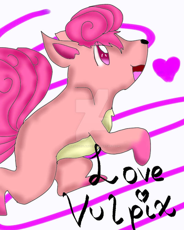 Love Vulpix by FlaraTheFlareon