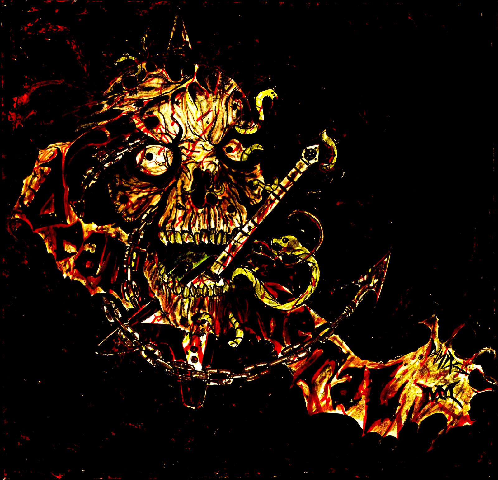 death metal compilation mondometal by damix by damixart