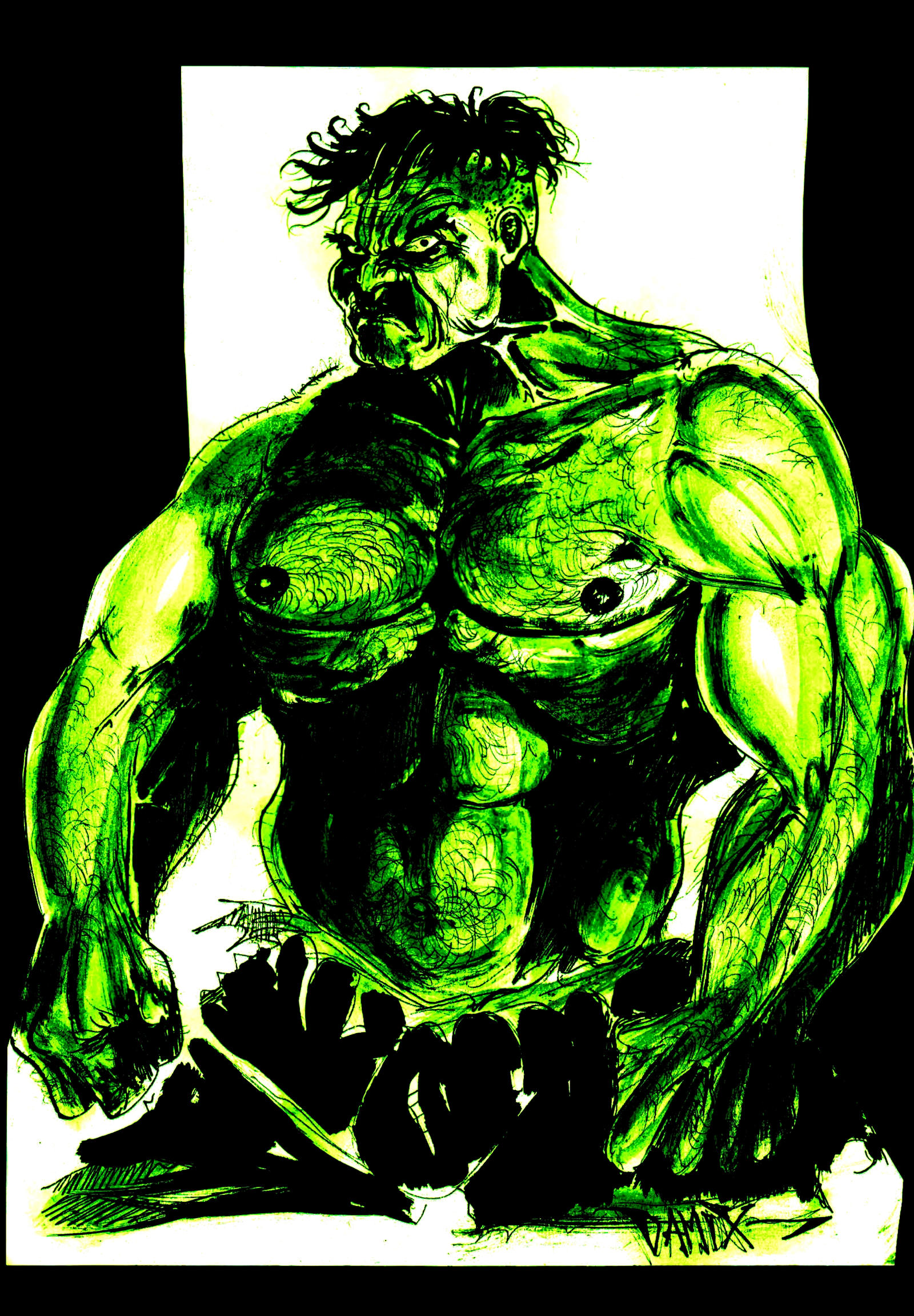 incredible hulk art gallery - photo #10