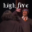 High Five Snape and Ron by HermioneHouse