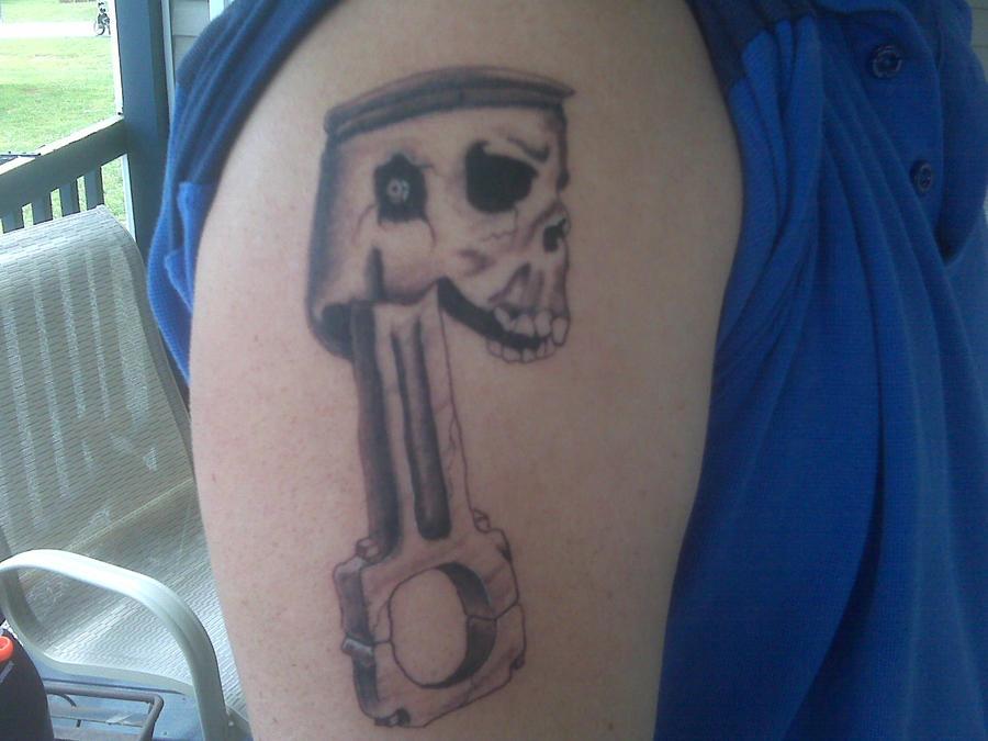 Skull Piston Drawing Skull And Piston Tattoos