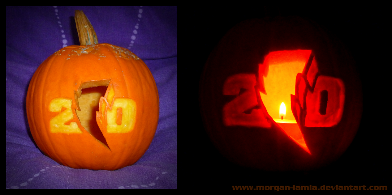 Power Rangers 20th Pumpkin by morgan-lamia