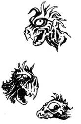 3 Dragon Heads by ejamesheil