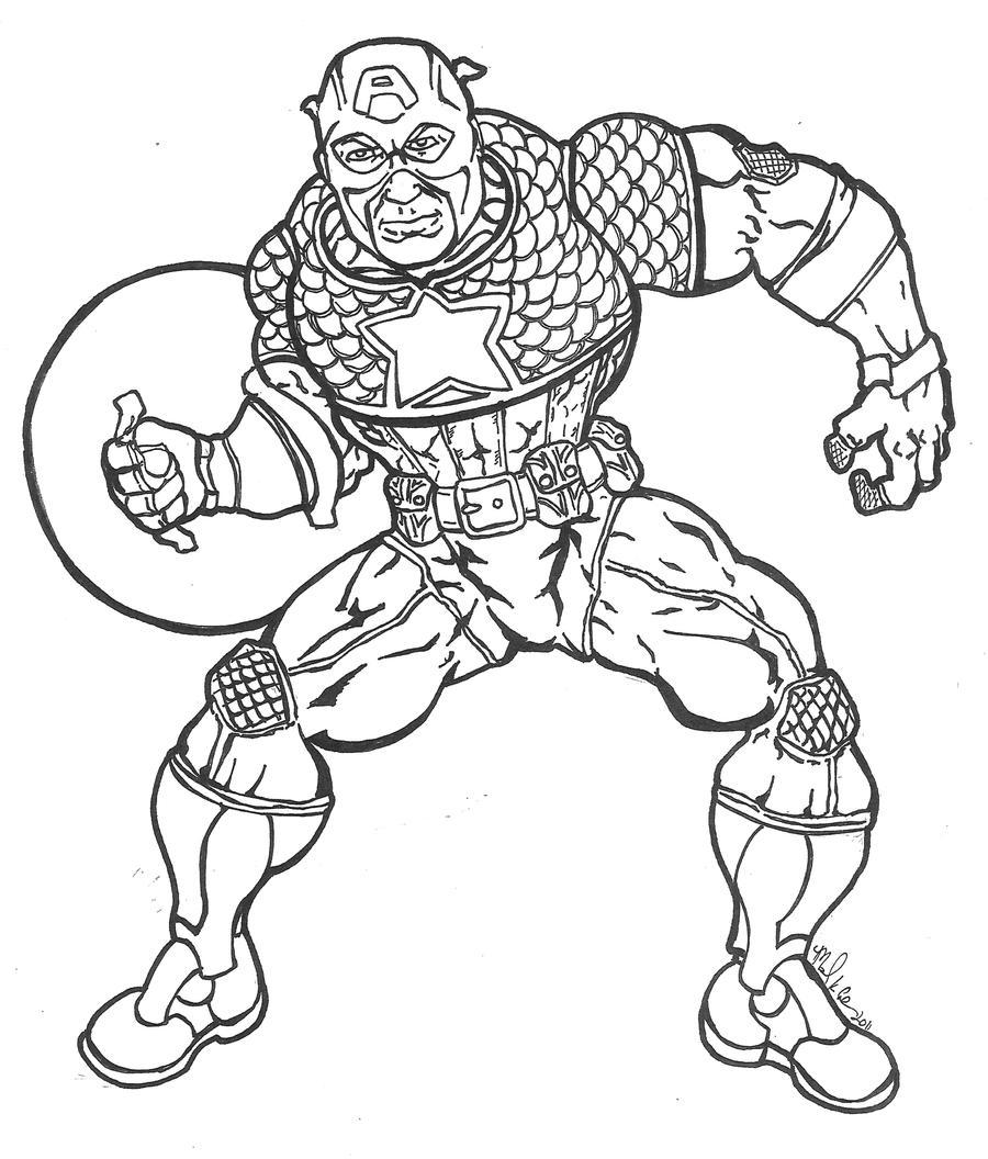 Line Drawing Usa : Captain america line art by mkeaston on deviantart