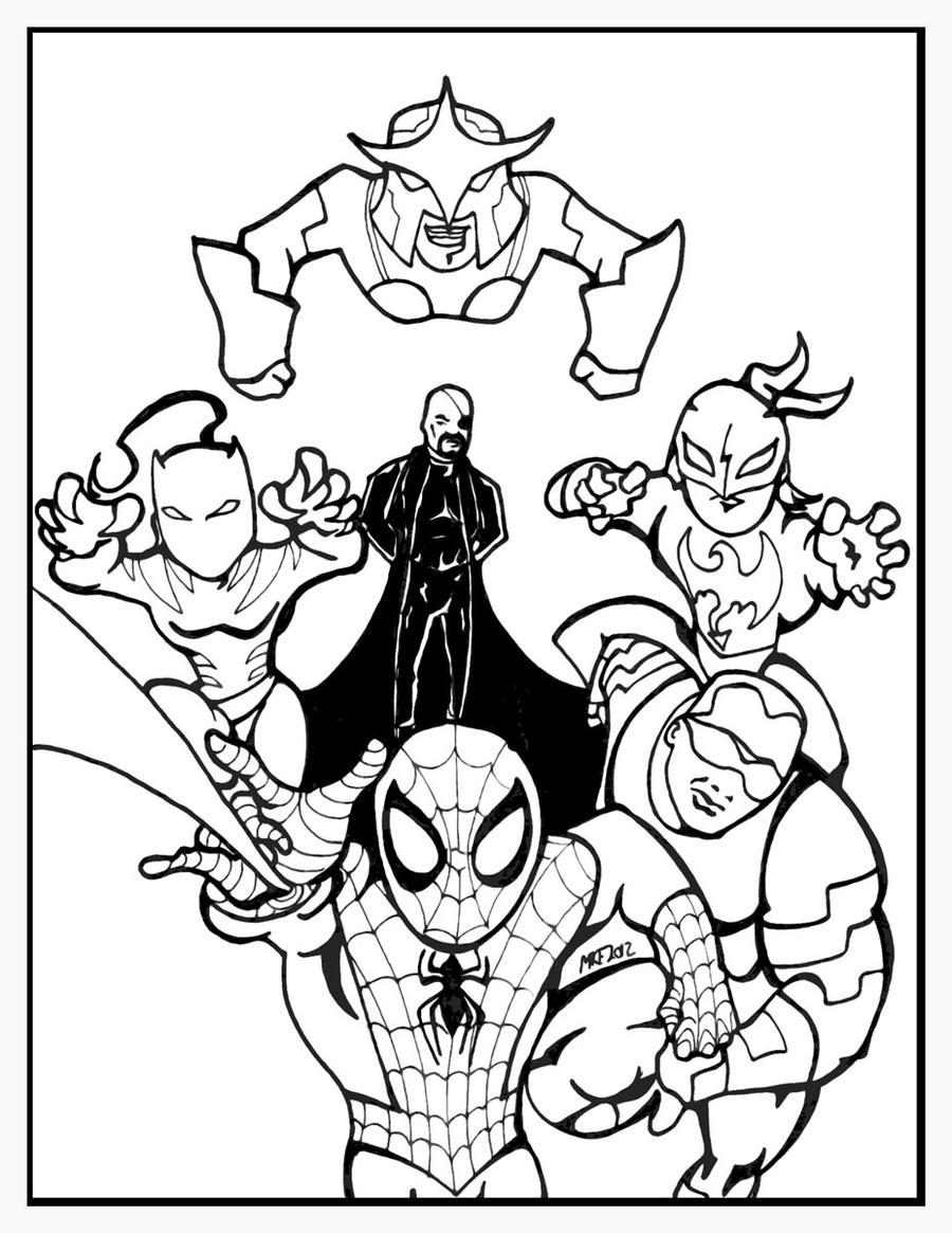 Line Art Xl 2012 : Ultimate spider man team coloring pages imgkid