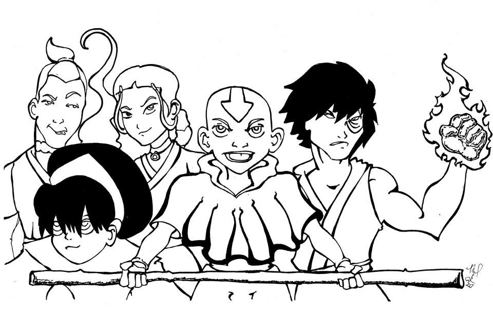 Q Line Art : Avatar line art by mkeaston on deviantart