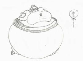 inflated princess peach by Brockwel