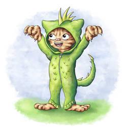 Rawr - Cats of June 6/30 by JoenSo