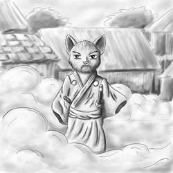 Yojimbo - Cats of June 7/30 by JoenSo