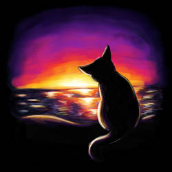 Sunset - Cats of June 14/30 by JoenSo