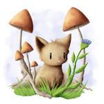 Mushrooming - Cats of June 22/30 by JoenSo