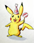 Party Pikachu by JoenSo