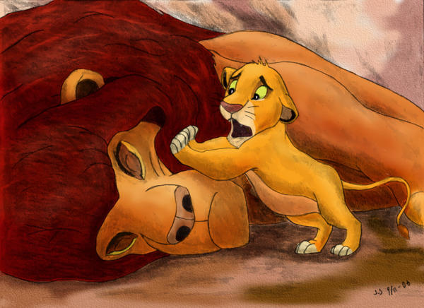 Mufasa's Death, color by Drak-Joen
