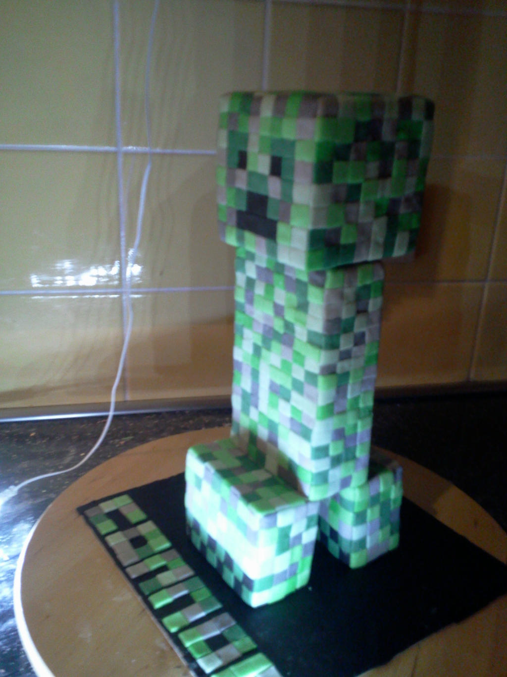 Minecraft Creeper Cake Bars
