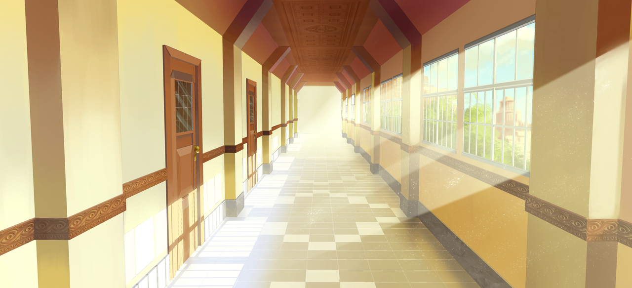 Tlom school corridor bg 1 by exitmothership on deviantart for Comedor waterdog royal house