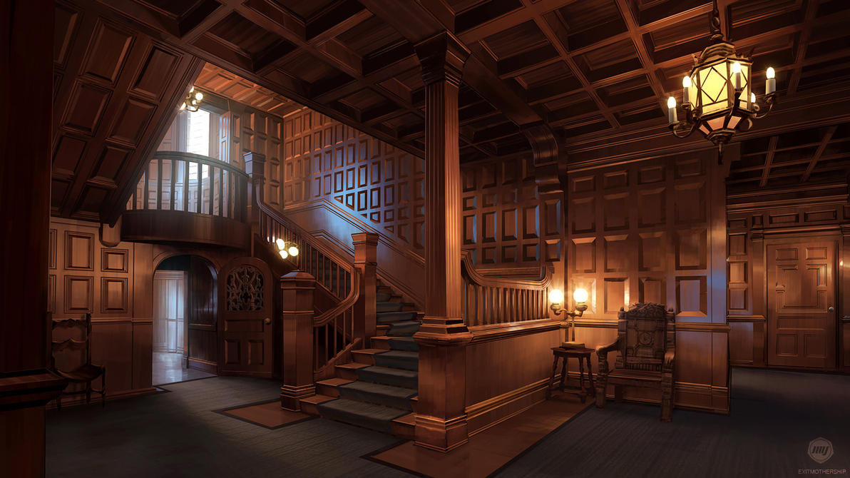 School Mansion Interior Vn Background By Exitmothership